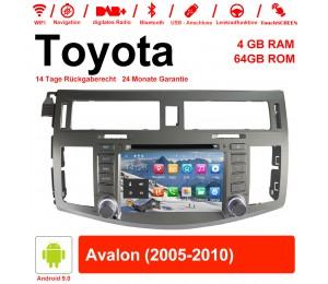 8 Zoll Android 9.0 Autoradio / Multimedia 4GB RAM 64GB ROM Für Toyota Avalon 2005-2010  Mit WiFi NAVI Bluetooth USB