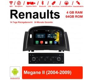 7 Zoll Android 9.0 Autoradio / Multimedia 4GB RAM 64GB ROM Für RENAULT Megane II Mit WiFi NAVI Bluetooth USB