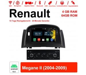 7 Zoll Android 10.0 Autoradio / Multimedia 4GB RAM 64GB ROM Für RENAULT Megane II Mit WiFi NAVI Bluetooth USB