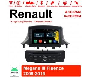 7 Zoll Android 10.0 Autoradio / Multimedia 4GB RAM 64GB ROM Für RENAULT Megane III Fluence 2009-2016 Mit WiFi NAVI Bluetooth USB Built-in CarPlay