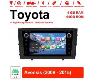 7 Zoll Android 10.0 Autoradio / Multimedia 4GB RAM 64GB ROM Für Toyota Avensis 2009 - 2015 Mit WiFi NAVI Bluetooth USB
