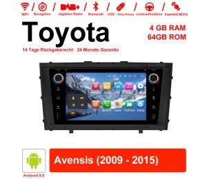 7 Zoll Android 9.0 Autoradio / Multimedia 4GB RAM 64GB ROM Für Toyota Avensis 2009 - 2015 Mit WiFi NAVI Bluetooth USB
