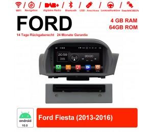 7 Zoll Android 10.0 Autoradio / Multimedia 4GB RAM 64GB ROM Für Ford Fiesta 2013-2016 Mit WiFi NAVI Bluetooth USB