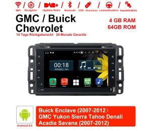 7 Zoll Android 9.0 Autoradio / Multimedia 4GB RAM 64GB ROM Für GMC sierra Yukon Savana Denali/Buick Enclave Mit WiFi NAVI Bluetooth USB