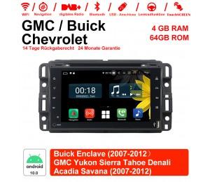 7 Zoll Android 10.0 Autoradio / Multimedia 4GB RAM 64GB ROM Für GMC sierra Yukon Savana Denali/Buick Enclave Chevrolet Mit WiFi NAVI Bluetooth USB