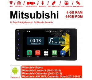 7 Zoll Android 9.0 Autoradio / Multimedia 4GB RAM 64GB ROM Für Mitsubishi Pajero Lancer-X Outlander ASX RVR Outlander Sport Mit WiFi NAVI Bluetooth USB