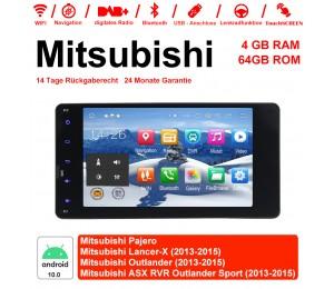 7 Zoll Android 10.0 Autoradio / Multimedia 4GB RAM 64GB ROM Für Mitsubishi Pajero Lancer-X Outlander ASX RVR Outlander Sport  Mit WiFi NAVI Bluetooth USB