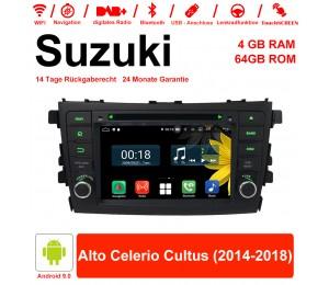7 Zoll Android 9.0 Autoradio / Multimedia 4GB RAM 64GB ROM Für Suzuki Alto Celerio Cultus 2014-2018 Mit WiFi NAVI Bluetooth USB