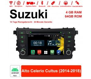 7 Zoll Android 10.0 Autoradio / Multimedia 4GB RAM 64GB ROM Für Suzuki Alto Celerio Cultus 2014-2018 Mit WiFi NAVI Bluetooth USB