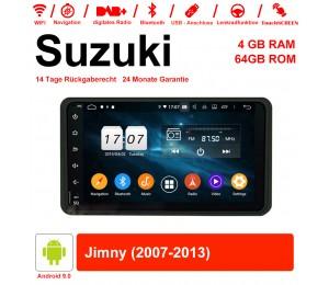7 Zoll Android 9.0 Autoradio / Multimedia 4GB RAM 64GB ROM Für Suzuki Jimny 2007-2013 Mit WiFi NAVI Bluetooth USB