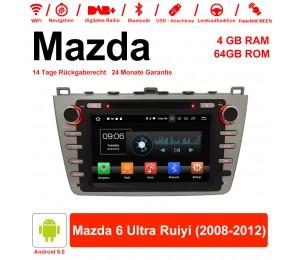 8 Zoll Android 9.0 Autoradio / Multimedia 4GB RAM 64GB ROM Für Mazda 6 Ultra Ruiyi 2008-2012 Mit WiFi NAVI Bluetooth USB