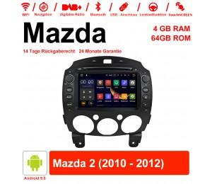8 Zoll Android 9.0 Autoradio / Multimedia 4GB RAM 64GB ROM Für Mazda 2 2010 - 2012 Mit WiFi NAVI Bluetooth USB