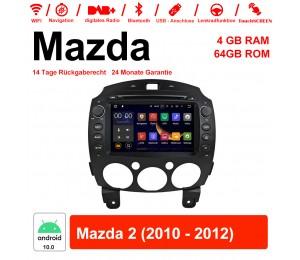 8 Zoll Android 10.0 Autoradio / Multimedia 4GB RAM 64GB ROM Für Mazda 2 2010 - 2012 Mit WiFi NAVI Bluetooth USB