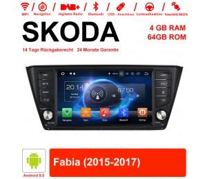 8 Zoll Android 9.0 Autoradio / Multimedia 4GB RAM 64GB ROM Für SKODA Fabia Mit WiFi NAVI Bluetooth USB