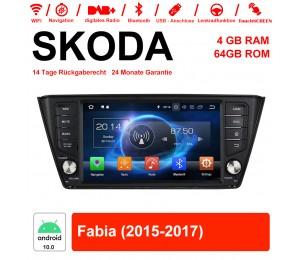 8 Zoll Android 10.0 Autoradio / Multimedia 4GB RAM 64GB ROM Für SKODA Fabia Mit WiFi NAVI Bluetooth USB
