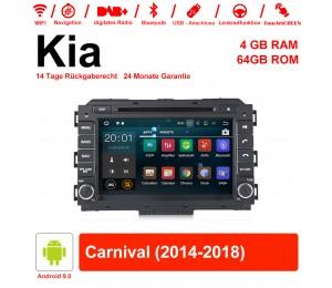 8 Zoll Android 9.0 Autoradio / Multimedia 4GB RAM 64GB ROM Für Kia Carnival 2014 2015 2016 2017 2018 Mit WiFi NAVI Bluetooth USB