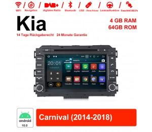 8 Zoll Android 10.0 Autoradio / Multimedia 4GB RAM 64GB ROM Für Kia Carnival 2014 2015 2016 2017 2018 Mit WiFi NAVI Bluetooth USB