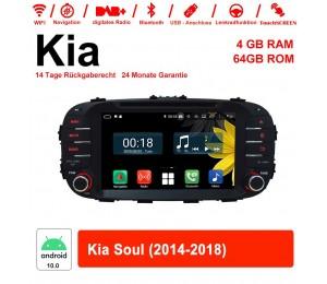 8 Zoll Android 10.0 Autoradio / Multimedia 4GB RAM 64GB ROM Für Kia Soul 2014-2018 Mit WiFi NAVI Bluetooth USB