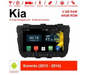 8 Zoll Android 9.0 Autoradio / Multimedia 4GB RAM 64GB ROM Für Kia Sorento 2013 2014 Mit WiFi NAVI Bluetooth USB