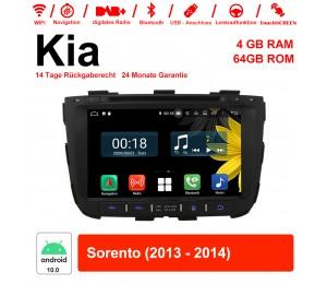 8 Zoll Android 10.0 Autoradio / Multimedia 4GB RAM 64GB ROM Für Kia Sorento 2013 2014 Mit WiFi NAVI Bluetooth USB
