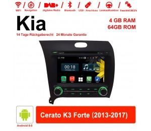 8 Zoll Android 9.0 Autoradio / Multimedia 4GB RAM 64GB ROM Für Kia Cerato K3 Forte 2013-2017 Mit WiFi NAVI Bluetooth USB