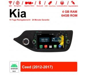 8 Zoll Android 10.0 Autoradio / Multimedia 4GB RAM 64GB ROM Für Kia Ceed 2012-2017 Mit WiFi NAVI Bluetooth USB