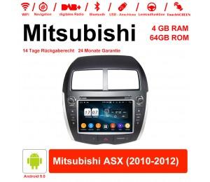 8 Zoll Android 9.0 Autoradio / Multimedia 4GB RAM 64GB ROM Für Mitsubishi ASX 2010-2012 Mit WiFi NAVI Bluetooth USB