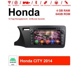 8 Zoll Android 10.0 Autoradio / Multimedia 4GB RAM 64GB ROM Für Honda CITY 2014 Mit WiFi NAVI Bluetooth USB
