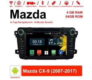 8 Zoll Android 9.0 Autoradio / Multimedia 4GB RAM 64GB ROM Für Mazda CX-9 2007-2017 Mit WiFi NAVI Bluetooth USB