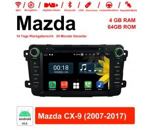 8 Zoll Android 10.0 Autoradio / Multimedia 4GB RAM 64GB ROM Für Mazda CX-9 2007-2017 Mit WiFi NAVI Bluetooth USB