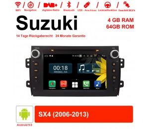 8 Zoll Android 9.0 Autoradio / Multimedia 4GB RAM 64GB ROM Für Suzuki SX4 2006-2013 Mit WiFi NAVI Bluetooth USB
