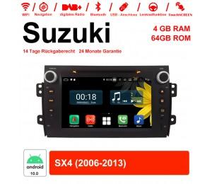 8 Zoll Android 10.0 Autoradio / Multimedia 4GB RAM 64GB ROM Für Suzuki SX4 2006-2013 Mit WiFi NAVI Bluetooth USB