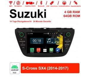 8 Zoll Android 10.0 Autoradio / Multimedia 4GB RAM 64GB ROM Für Suzuki S-Cross SX4 2014-2017 Mit WiFi NAVI Bluetooth USB