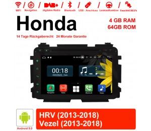 8 Zoll Android 9.0 Autoradio / Multimedia 4GB RAM 64GB ROM Für Hyunda HRV 2013-2018 Vezel 2013-2018 Mit WiFi NAVI Bluetooth USB