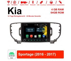 8 Zoll Android 10.0 Autoradio / Multimedia 4GB RAM 64GB ROM Für Kia Sportage 2016 2017 Mit WiFi NAVI Bluetooth USB