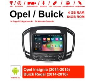 8 Zoll Android 9.0 Autoradio / Multimedia 4GB RAM 64GB ROM Für Buick Regal / Opel Insignia 2014 2015  Mit WiFi NAVI USB
