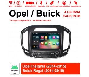 8 Zoll Android 10.0 Autoradio / Multimedia 4GB RAM 64GB ROM Für Buick Regal / Opel Insignia 2014 2015 Mit WiFi NAVI USB