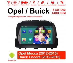 8 Zoll Android 9.0 Autoradio/Multimedia 4GB RAM 64GB ROM Für Opel Mocca 2012 2013 2014 2015 / Buick Encore 2012 2013 2014 2015 Mit WiFi NAVI Bluetooth USB