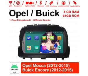 8 Zoll Android 10.0 Autoradio/Multimedia 4GB RAM 64GB ROM Für Opel Mocca 2012 2013 2014 2015 / Buick Encore 2012 2013 2014 2015 Mit WiFi NAVI Bluetooth USB