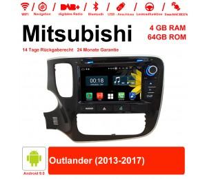 8 Zoll Android 9.0 Autoradio / Multimedia 4GB RAM 64GB ROM Für Mitsubishi Outlander 2013-2017 Mit WiFi NAVI Bluetooth USB