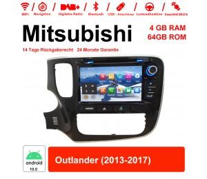 8 Zoll Android 10.0 Autoradio / Multimedia 4GB RAM 64GB ROM Für Mitsubishi Outlander 2013-2017 Mit WiFi NAVI Bluetooth USB