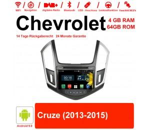 8 Zoll Android 9.0 Autoradio / Multimedia 4GB RAM 64GB ROM Für Chevrolet Cruze 2013 2014 2015 Mit WiFi NAVI Bluetooth USB