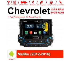 8 Zoll Android 9.0 Autoradio / Multimedia 4GB RAM 64GB ROM Für Chevrolet Malibu 2012-2016 Mit WiFi NAVI Bluetooth USB