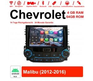 8 Zoll Android 10.0 Autoradio / Multimedia 4GB RAM 64GB ROM Für Chevrolet Malibu 2012-2016 Mit WiFi NAVI Bluetooth USB