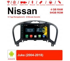 8 Zoll Android 9.0 Autoradio / Multimedia 4GB RAM 64GB ROM Für Nissan Juke 2004-2018 Mit WiFi NAVI Bluetooth USB