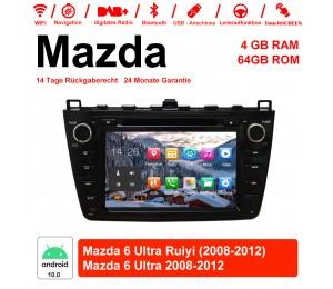 8 Zoll Android 10.0 Autoradio / Multimedia 4GB RAM 64GB ROM Für Mazda 6 Ultra Ruiyi 2008-2012 Mit WiFi NAVI Bluetooth USB