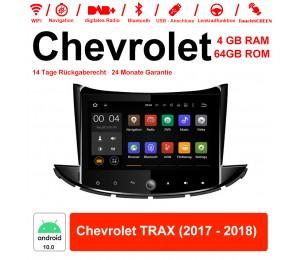 8 Zoll Android 10.0 Autoradio / Multimedia 4GB RAM 64GB ROM Für Chevrolet TRAX 2017 2018 Mit WiFi NAVI Bluetooth USB