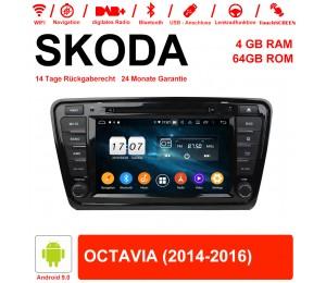 8 Zoll Android 9.0 Autoradio / Multimedia 4GB RAM 64GB ROM Für SKODA OCTAVIA Mit WiFi NAVI Bluetooth USB