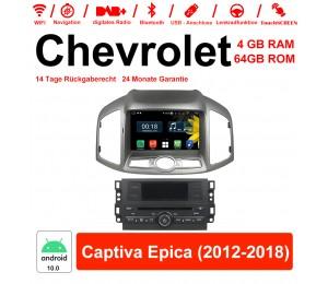 8 Zoll Android 10.0 Autoradio / Multimedia 4GB RAM 64GB ROM Für Chevrolet Captiva Epica 2012-2018 Mit WiFi NAVI Bluetooth USB