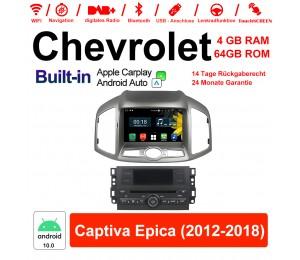8 Zoll Android 10.0 Autoradio / Multimedia 4GB RAM 64GB ROM Für Chevrolet Captiva Epica 2012-2018 Built-in Carplay / Android Auto